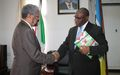 Cassam Uteem received by the head of Burundian diplomacy