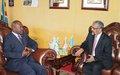Entretien entre le Chef de l'État burundais et l'Envoyé spécial du Secrétaire général